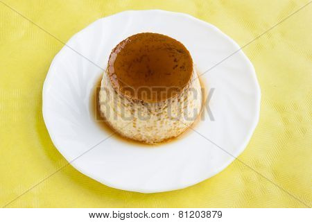 Flan with syrup