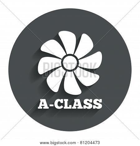 A-class ventilation sign icon. Energy efficiency