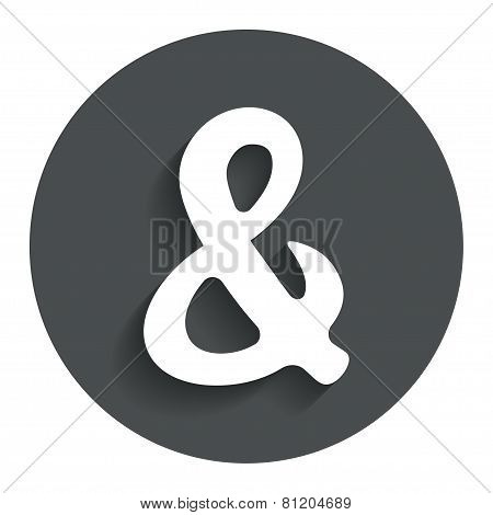 Ampersand sign icon. Logical operator