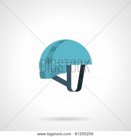 Flat color icon for climbing helmet