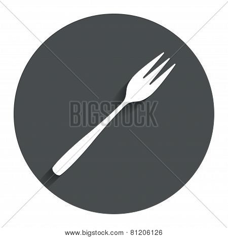 Eat sign icon. Diagonal dessert fork.