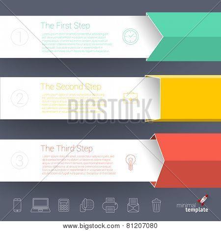 Color boxes. Infographic chart vector design element set.