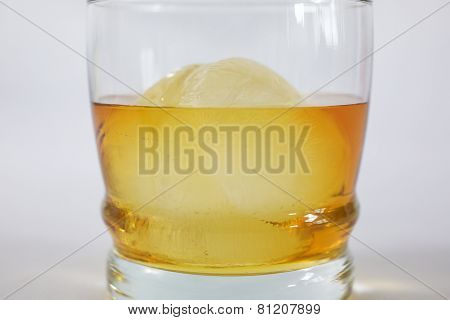 Whiskey on rocks in Glass