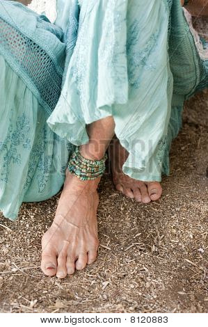 Graceful Senior Woman's Foot