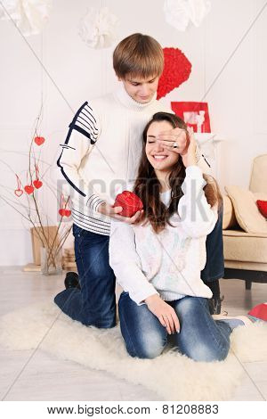 The Man Gives A Woman A Gift
