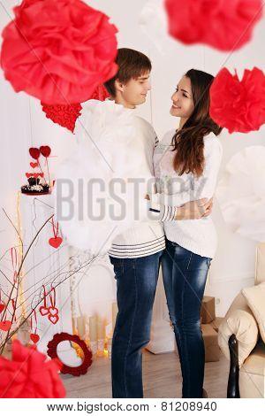 Man And Woman Hug