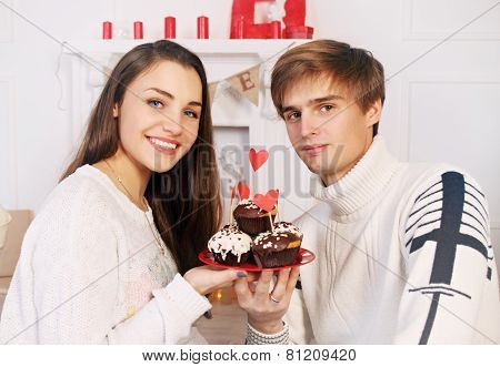 Man And Woman With Dessert