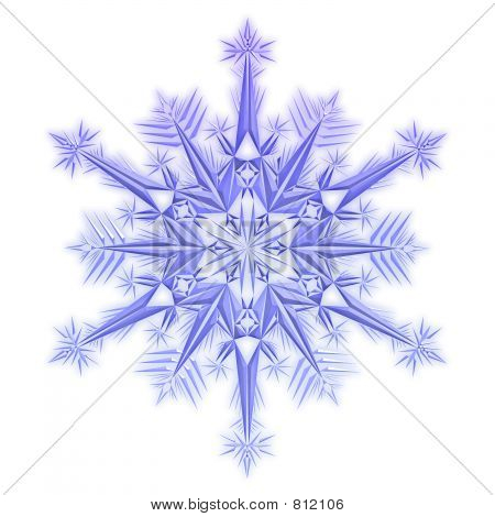 Snowflake on a white