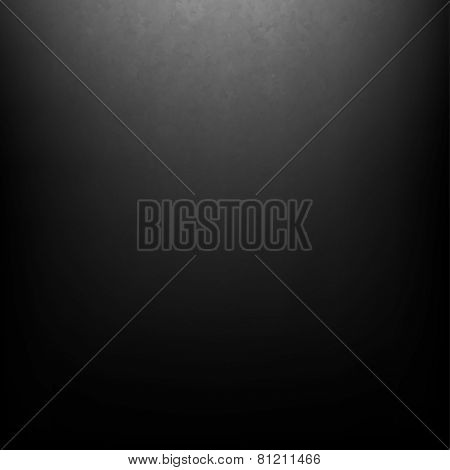 Black Grunge Background With Gradient Mesh, Vector Illustration