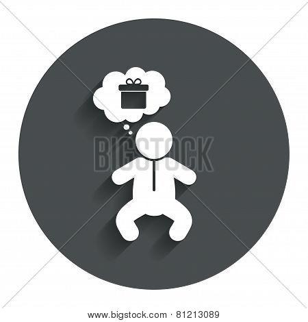 Baby infant sign icon. Toddler boy symbol.