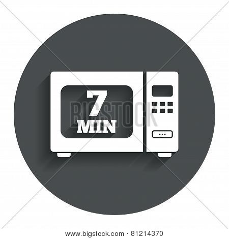 Cook in microwave oven sign icon. Electric stove
