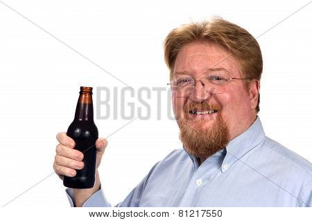 Man Holding Bottled Beer