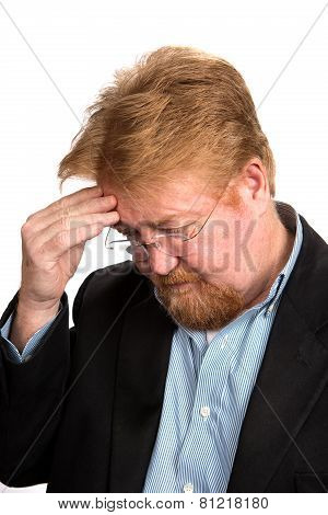 Worried Depressed Mature Man