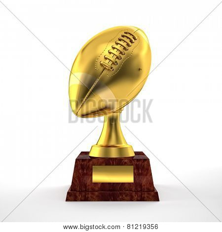 3d american football trophy