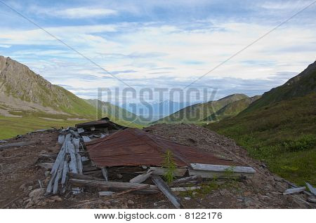 Collapsed Building At Independence Mine