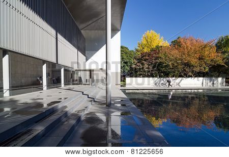 Tokyo, Japan - November 22, 2013: People Visit The Gallery Of Horyuji Treasures