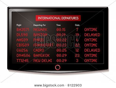 Lcd Airport Departure