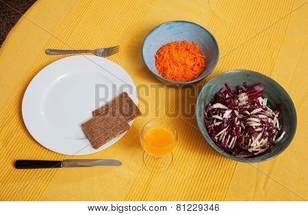 healthy lunch food still life