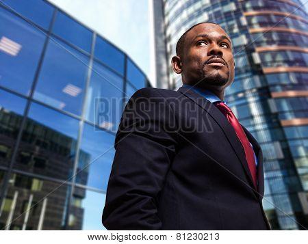Portrait of a businessman in an urban environment
