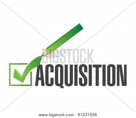 Acquisition Check Mark Illustration Design