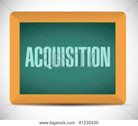 Acquisition Board Sign Illustration Design