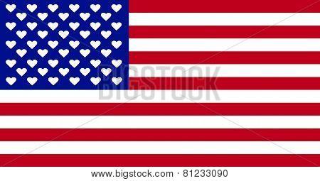 American Love Flag