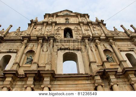 The Ruins Of St. Paul's, One Of The Macau's Most Famous Landmarks