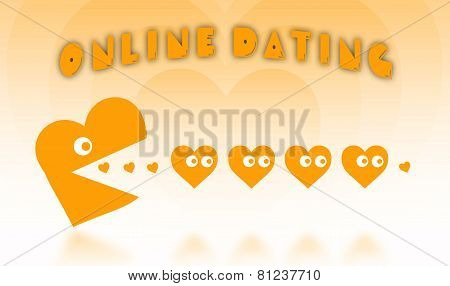 Concept Of Dating - Big Heart Hunting Small Hearts
