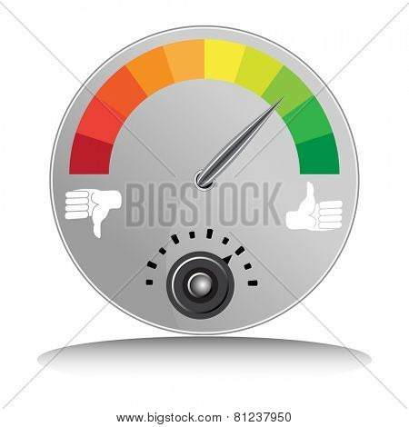 An image of a like and dislike meter.