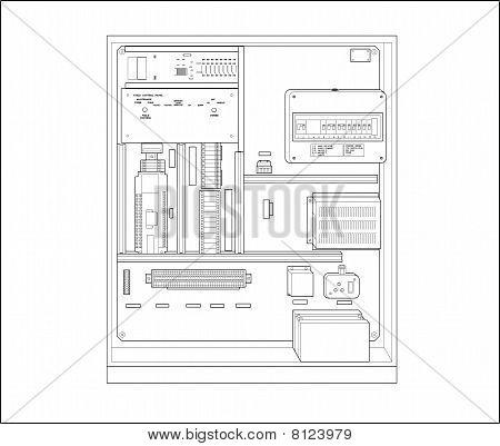 Control box illustration