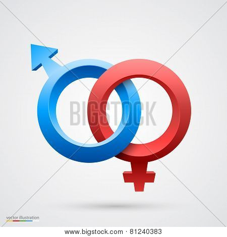 Vector illustration of male and female symbol