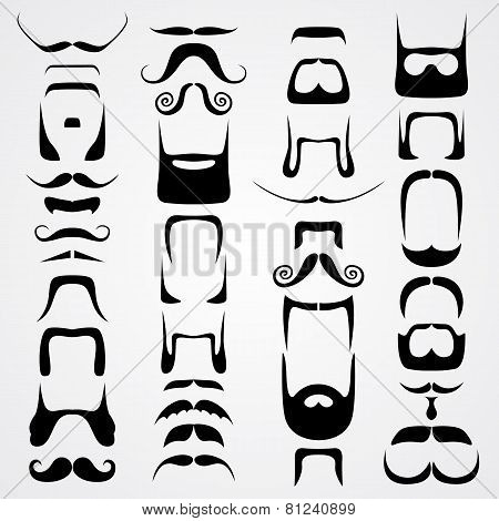 Vector set of whiskers