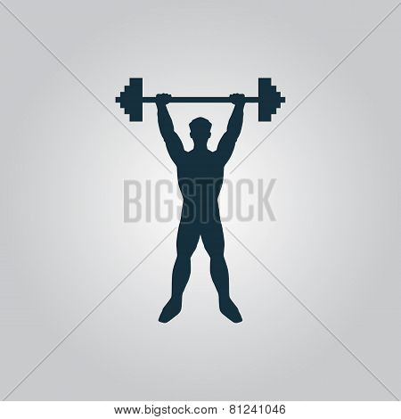 Strong man icon illustration of fitness