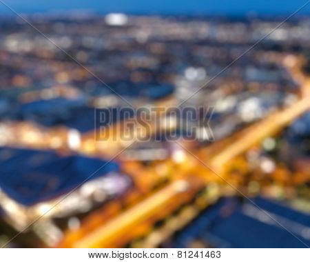 Blurred background - defocused aerial view of Munich