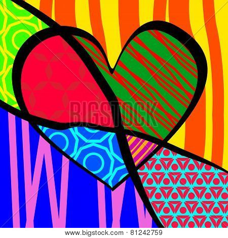 Vector Illustration for Valentine's Day. pop-art
