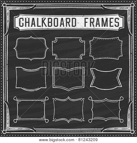 A Set of Chalkboard Frames - Design Elements - Illustration