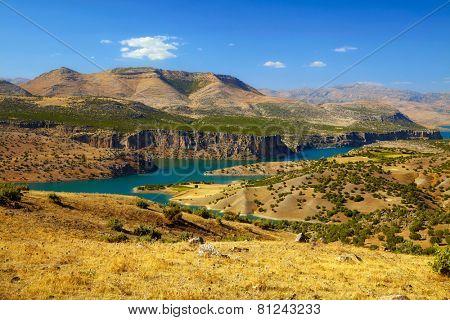 Canyon of Euphrates River. Turkey