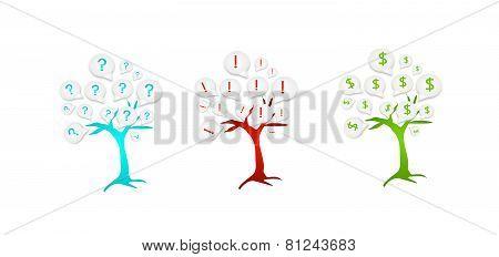 Three Icons Trees