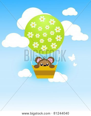 Flying Ballon With Cute Animal