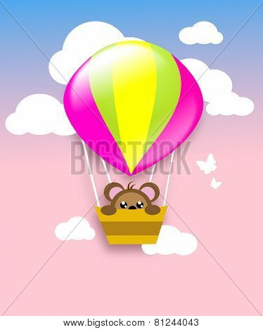 Flying Ballon With Animal
