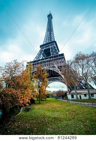 Paris Eiffel Tower, winter colors