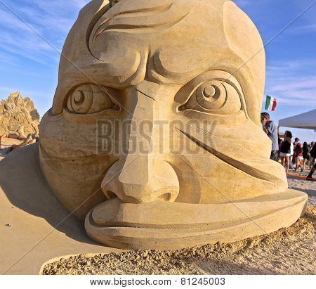 Atlantic City,NJ/USA-July 28,2014: Sand sculpting competition has evolved into a major performing arts attraction in Atlantic City, NJ. This piece of sand art was made by Aleksei Diakov from Russia.