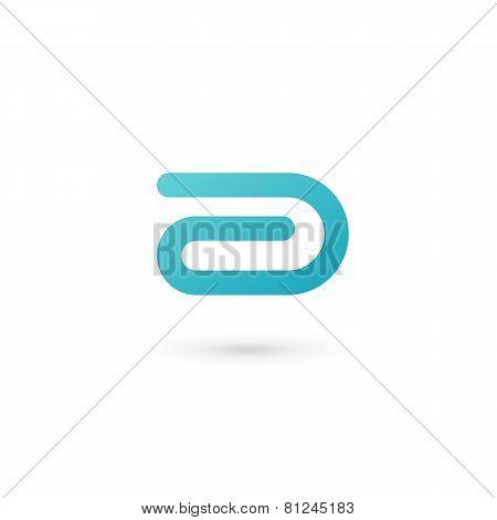 Letter D Clip Logo Icon Design Template Elements