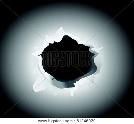 bullet hole vector illustration