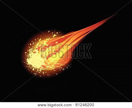 comet vector background
