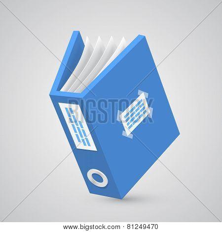 Folder paper blue