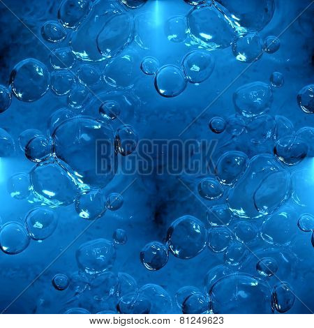 seamless texture of water with bubbles