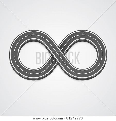 Infinity road vector background