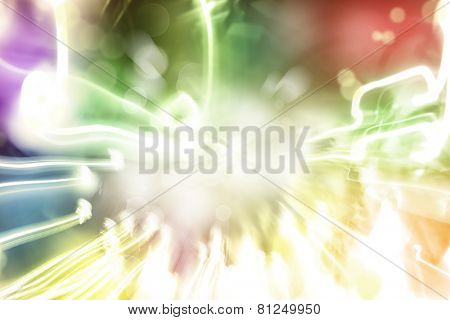 Abstract streaks of colorful light background