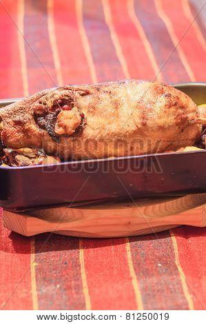 Appetizing Homemade Duck At Sheet Pan